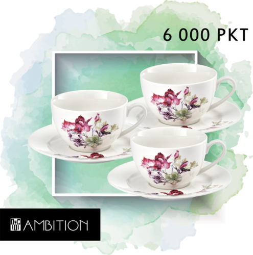 KOMPLET KAWOWY NEW BONE CHINA